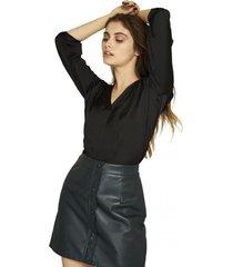 blusa manga ajustable negro nicopoly