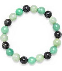 dyed multicolor jade stretch bracelet