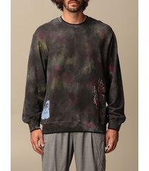 mcq alexander mcqueen mcq sweatshirt eden high sweatshirt by mcq in printed cotton