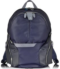 piquadro designer men's bags, nylon & leather computer backpack