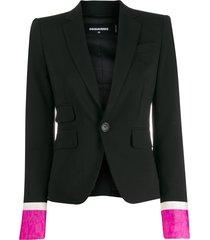 dsquared2 contrast cuffs blazer - black