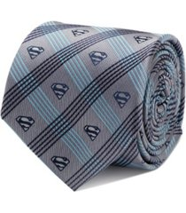 dc comics superman plaid men's tie