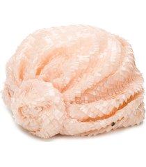 maison michel hiromi sequin silk turban - pink
