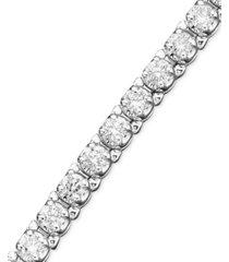 certified diamond bracelet in 14k white gold (3 ct. t.w.)