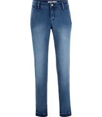jeans elasticizzati morbidi modello chino (blu) - john baner jeanswear