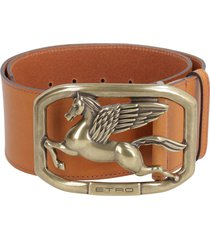 etro calf leather belt with buckle