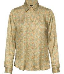 3367 - latia blouse lange mouwen geel sand