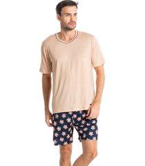 pijama masculino curto estampado leandro