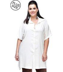 camisão melinde plus size off white