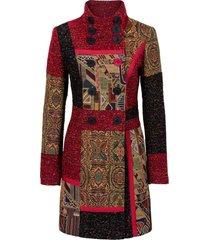 cappotto corto patchwork in mix di tessuti (rosso) - rainbow