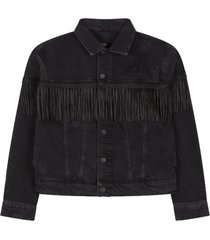 denim jacket with fringes