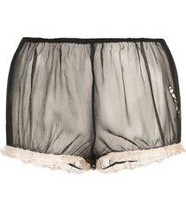 kiki de montparnasse x caroline vreeland microphone sheer shorts -