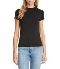 women's theory apex tee, size petite - black