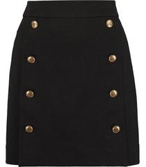 givenchy gold-tone button skirt
