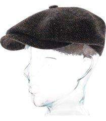 stetson hats harris tweed flat cap |blue| 6840205-123
