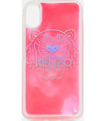 kenzo women's iphone x tiger head phone case - pink