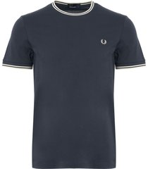 fred perry dark airforce twin tipped t-shirt m1588
