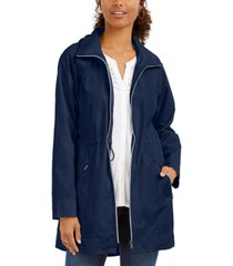style & co packable hooded anorak jacket, created for macy's