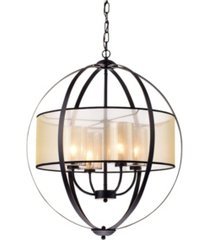 "home accessories bastien 28"" 4-light indoor pendant lamp with light kit"