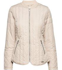 quilt jacket doorgestikte jas crème ilse jacobsen