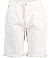 white frey denim shorts