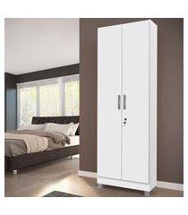 armário multiuso genialflex 0646.0001 com chave 2 portas branco