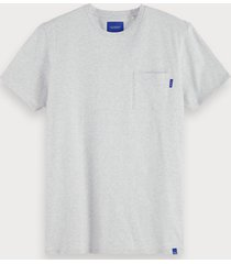 scotch & soda basic t-shirt met borstzak