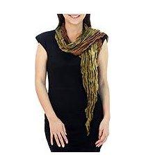silk scarf, 'summer jungle' (thailand)