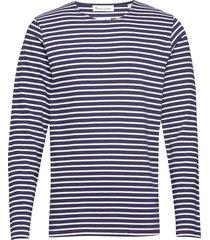 the organic striped tee ls t-shirts long-sleeved blå by garment makers