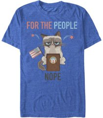 grumpy cat men's election not for the people short sleeve t-shirt