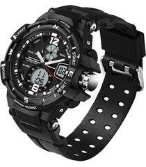 reloj analogo digital militar sanda 289 hombre 3atm negro