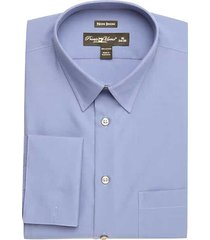 pronto uomo men's blue french cuff modern fit dress shirt - size: 16 34/35 - only available at men's wearhouse