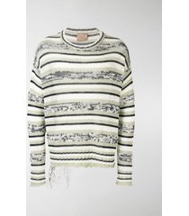 federico curradi striped knit sweater