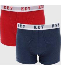 bipack boxer mon amour azul/ rojo