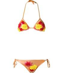 amir slama triangle bikini set - yellow