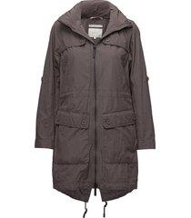 jacket parka lange jas jas grijs signal