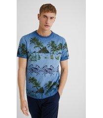 100% cotton tropical t-shirt - black - xxl