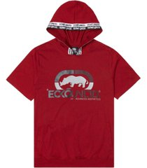 ecko unltd men's rhino strong short sleeve tape hoodie