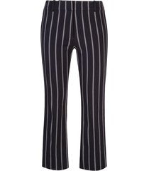derek lam 10 crosby braided trim striped trousers - blue