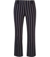 derek lam 10 crosby cropped flare pencil striped trouser with braided