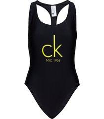 cheeky racer back on baddräkt badkläder svart calvin klein