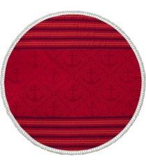 enchante home anchor turkish cotton round beach towel bedding
