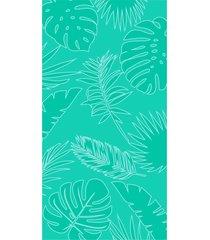toalha de praia beach - appel - folhagem aqua fresh