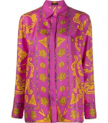 baroque print blouse