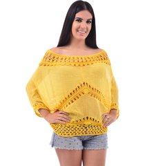 blusa bali beach ombro a ombro amarelo