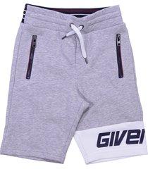 givenchy marled grey cotton shorts