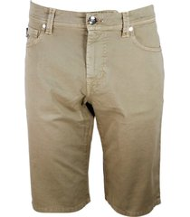 sartoria tramarossa ascanio bermuda shorts in 5-pocket stretch cotton gabardine