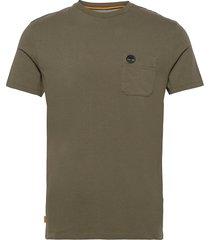 ss dun-riv pocket t t-shirts short-sleeved grön timberland