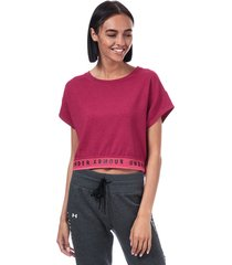womens featherweight fleece crop t-shirt