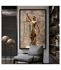 quadro grande 150x100cm advocacia mulher bronze vidro cristal